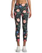 blossom floral-print studio leggings
