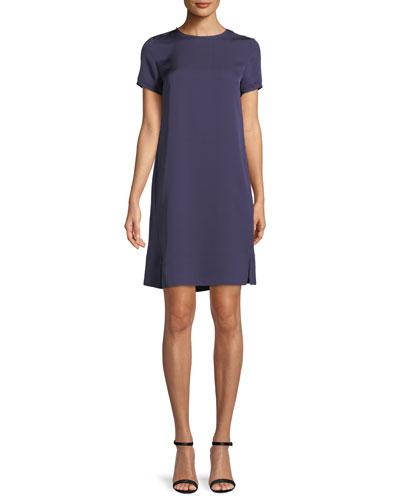 Modern Silk Tee Dress