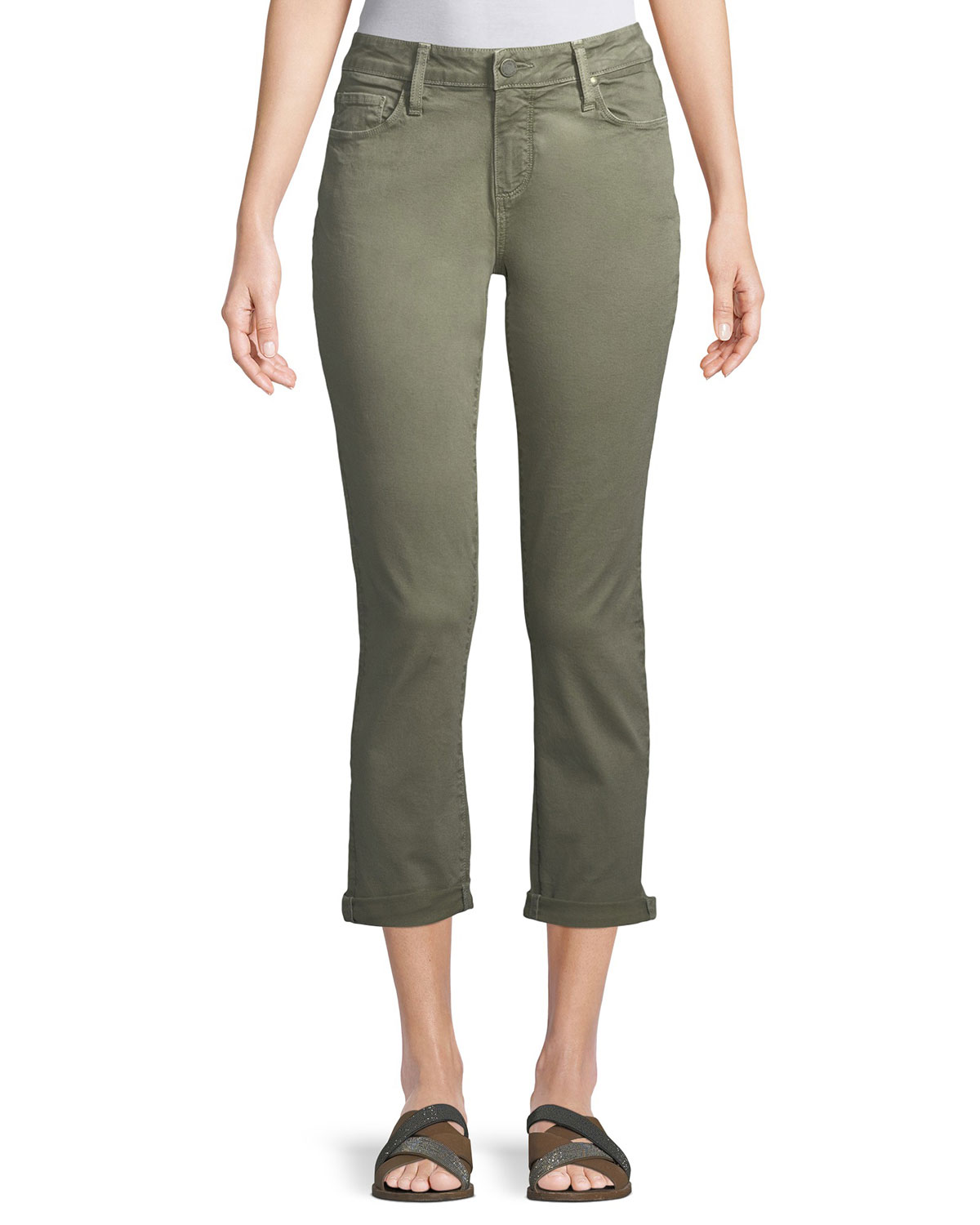 Brigette High-Rise Tailored Straight-Leg Jeans