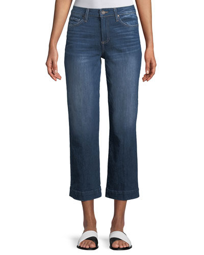 Nellie Wide-Leg Ankle Culotte Jeans