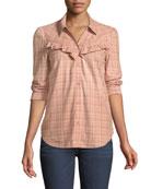 Kamie Long-Sleeve Plaid Button-Down Shirt