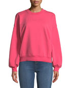 Mankind Crewneck Long-Sleeve Cotton Sweatshirt