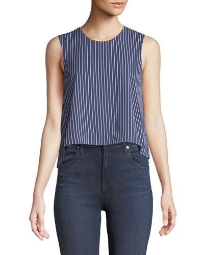 Midan Striped Sleeveless Crop Top