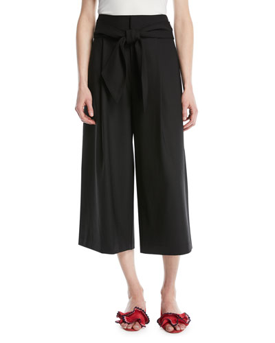 Izabelah Cropped Wide-Leg Pants