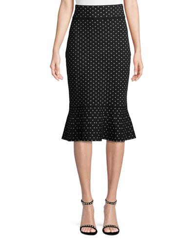 Graciekins Reversible Polka-Dot Midi Skirt
