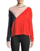 Sportivo Colorblock Long-Sleeve Sweatshirt