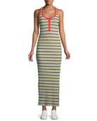 Banda Striped Sleeveless Maxi Dress