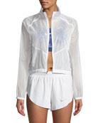 Transparent Front-Zip Performance Jacket