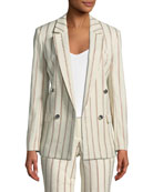 Fedor Striped Double-Breasted Blazer