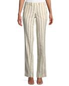 ba&sh Fara Striped Straight-Leg Pants
