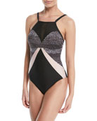 Dark Star Printed One-Piece Swimsuit