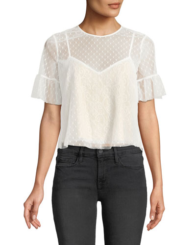 Reena Lace Short-Sleeve Top