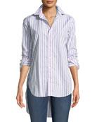 Grayson Striped Long-Sleeve Button-Down Shirt