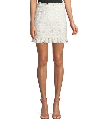 Charlotte Eyelet Lace Mini Skirt