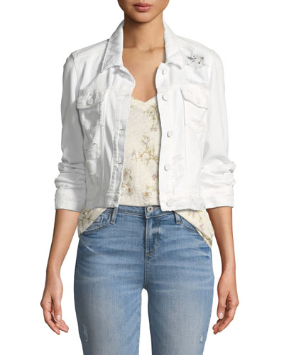 Vivienne Button-Front Denim Jacket