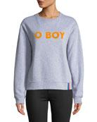 "The Raleigh ""O Boy"" Long-Sleeve Crewneck Sweatshirt"
