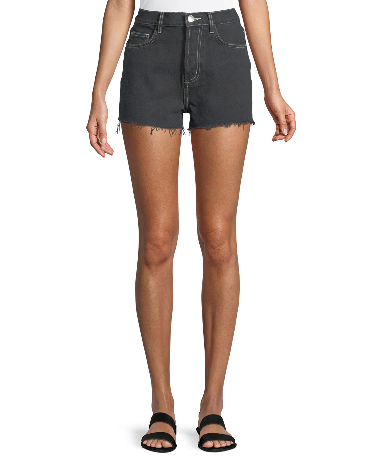 The Ultra High-Waist Cutoff Shorts with Raw-Edge Hem