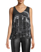 Graphic-Print Swing Tank