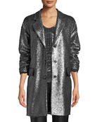 Boutique Moschino Metallic Boucle Long Jacket