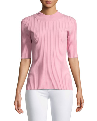 Mock-Neck Fine Gauge Top