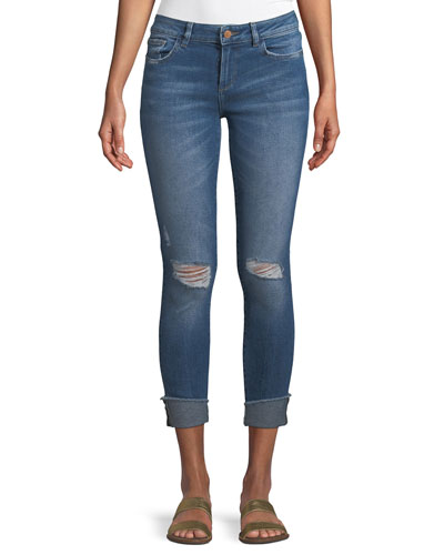 Florence Mid-Rise Instasculpt Skinny-Leg Cropped Jeans