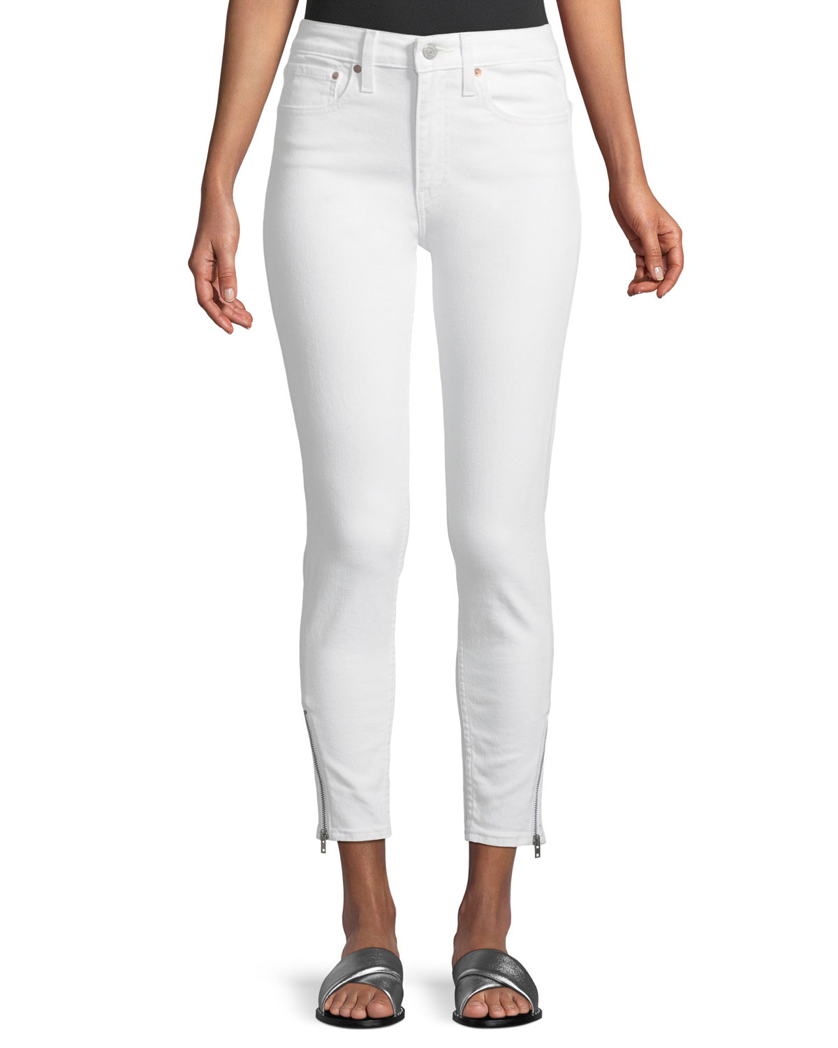 721 Altered High-Rise Side-Zip Skinny-Leg Jeans