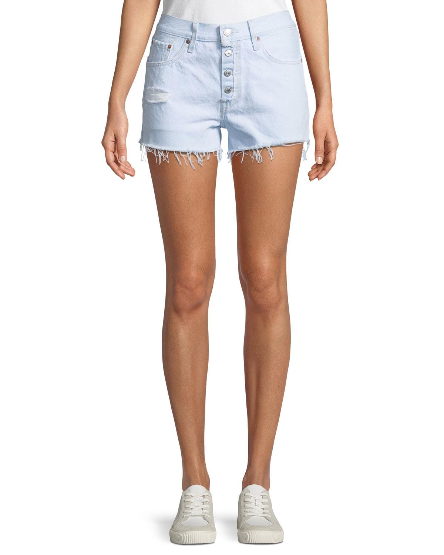 501 Better Love Denim Shorts w/ Cutoff Hem