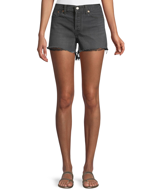 Wedgie High-Rise Denim Cutoff Shorts