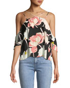 Bixby Strappy Off-the-Shoulder Floral-Print Top