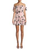 Laiyin Floral-Print Off-the-Shoulder Ruffle Dress