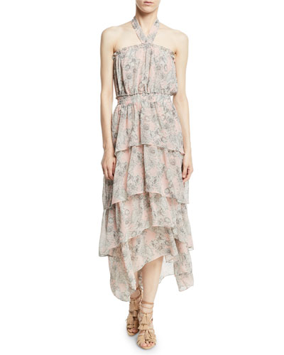 7c0fc34537bb Quick Look. MISA Los Angeles · Valeria Halter Floral-Print Maxi Dress