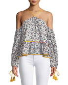 Syrah Off-the-Shoulder Floral-Print Blouse