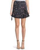 Maida Floral-Print Ruffle Skirt