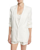 Kishina One-Button Linen Blazer
