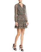 Rosemary Long-Sleeve Floral-Print Dress