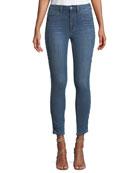 Charlie Braided-Side Skinny-Leg Jeans