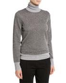 Joseph High-Neck Metallic-Knit Sweater and Matching Items &