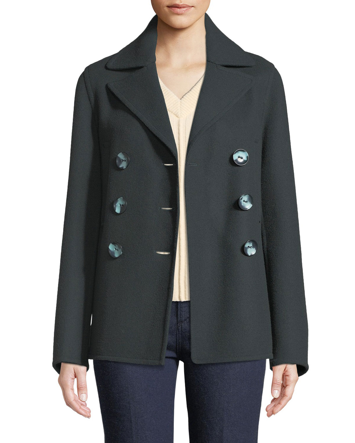 Joseph New Hector Short Fitted Pea Coat