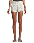 Rag & Bone Ellie Floral-Print High-Rise Twill Shorts