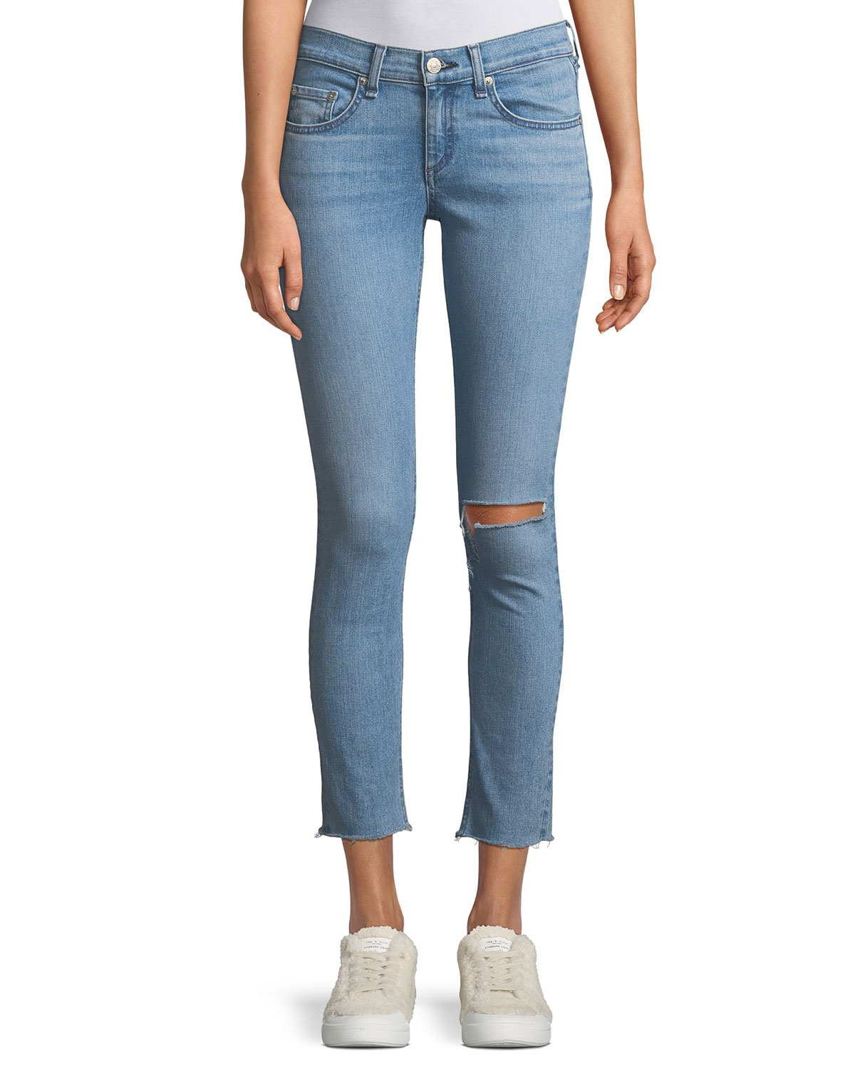 Classic Mid-rise Ankle Skinny-Leg Jeans