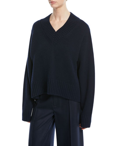 V-Neck Cashmere Luxe Sweater