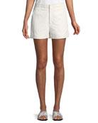 Brusha Mid-Rise Leather Shorts