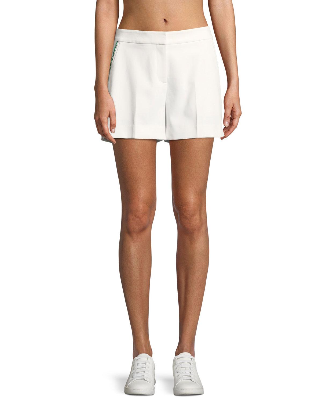 Tech Twill Ruffle Shorts