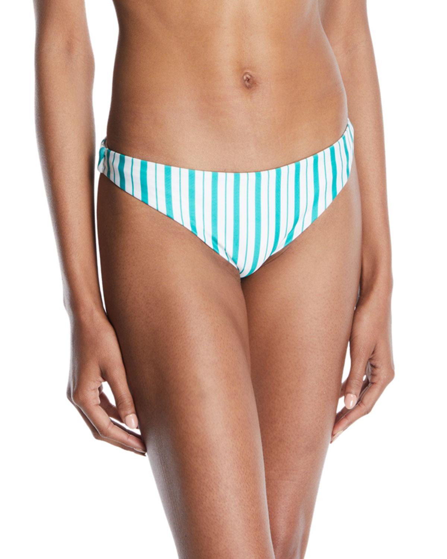 Good Vibes Striped Bikini Bottoms