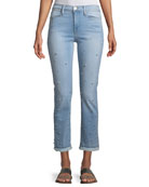 FRAME Le High Pearl Straight-Leg Cropped Jeans