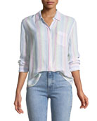 Charli Candy-Striped Long-Sleeve Shirt