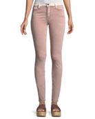 Adone Emma Contrast-Waistband Skinny-Leg Jeans