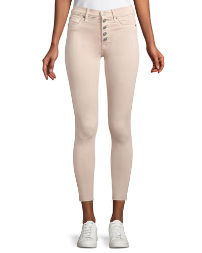 Barbara High-Rise Skinny Button-Fly Jeans