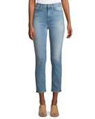 Dazzler Straight-Leg Ankle-Length Jeans