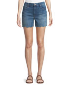 Sinner Frayed Denim Shorts